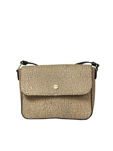 Borbonese - Beige shoulder bag with Graffiti print