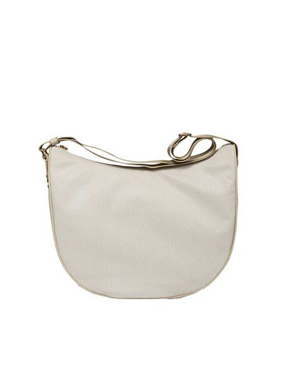 Borbonese Cream colored medium Luna bag 1f4sDLg