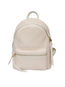 Borbonese - White Medium backpack with Graffiti print