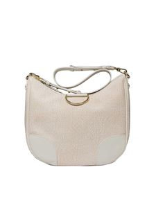 Borbonese - White Hobo bag with Graffiti print