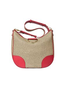 Borbonese - Beige Hobo bag with Graffiti print