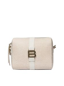 Borbonese - White shoulder bag with Graffiti print