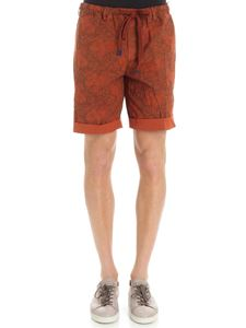 MYTHS - Rust-color reversible floral bermuda