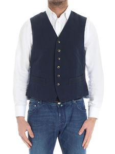 Fortela - Blue and green cotton waistcoat