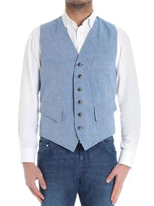 Fortela - Light-blue vintage denim waistcoat