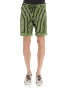 MYTHS - Green reversible striped bermuda