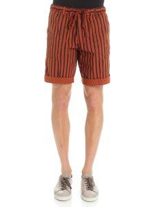 MYTHS - Rust color reversible striped bermuda