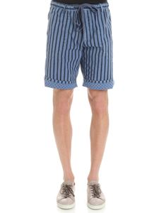 MYTHS - Blue reversible striped bermuda