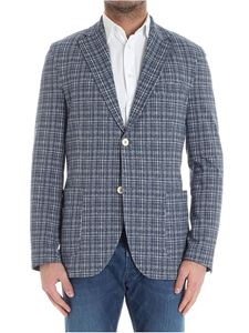 Circolo 1901 - Blue and white printed jersey jacket
