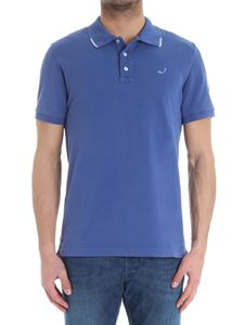 Jacob Cohën - Blue polo with logo embroidery