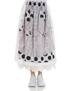 Comme Des Garçons - White skirt with gray print