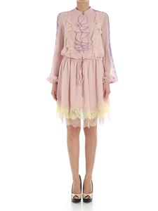 Blumarine - Pink dress with lace inserts