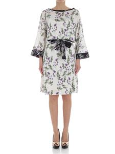 Blumarine - Ivory dress with floral pattern