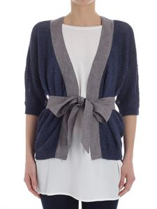 Eleventy - Blue knitted cardigan