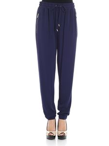 Michael Kors - Blue trousers with golden details
