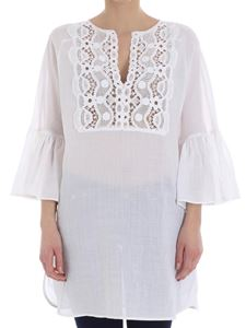 KI6? Who are you? - White blouse with lace insert