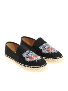 Kenzo - Black Tiger Head espadrilles with logo
