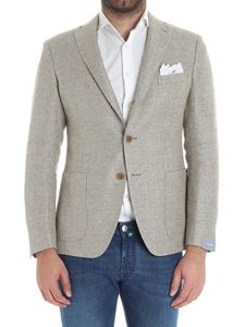 Cantarelli - Beige hemp and wool two buttons jacket