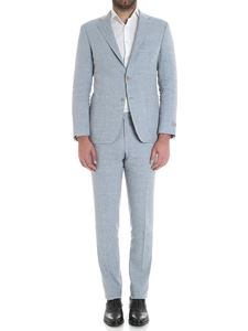 Canali - Light-blue two bottons linen and wool suit