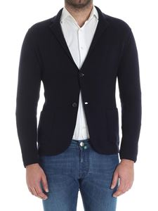 Kangra Cashmere - Dark blue knitted cardigan