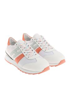 Hogan - White, pink and green R261 sneakers