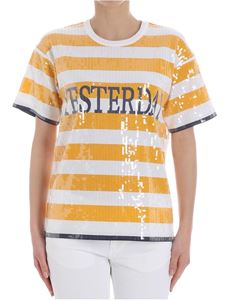 Alberta Ferretti - Yesterday striped T-shirt with sequins