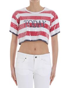 Alberta Ferretti - Today crop t-shirt with sequins