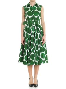 Samantha Sung - White and green dress with maxi polka dot print