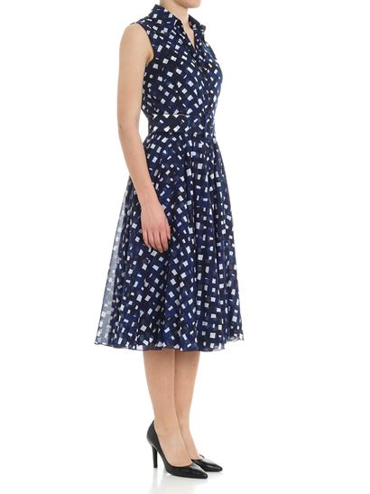 Blue Aster dress with diamond print Samantha Sung cIDffPe