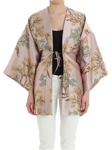 Weili Zheng - Antique pink kimono with oriental embroidery