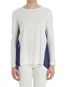 Semicouture - White and blue Roddy top