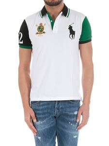 POLO Ralph Lauren - White, green and blue polo