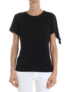 JW Anderson - Black ribbed top with knot detail