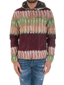 Valentino - Bordeaux jacket with feathers print