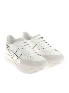 Hogan - White and platinum H222 sneakers