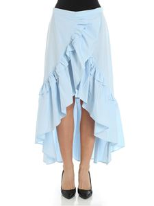 Weili Zheng - Blue skirt with ruffles