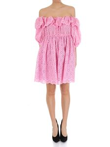 MSGM - Pink broderie anglaise dress
