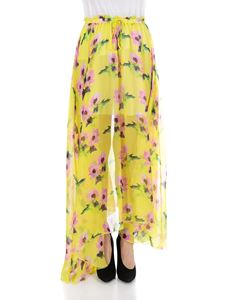 MSGM - Yellow floral skirt