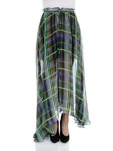 MSGM - Green striped skirt