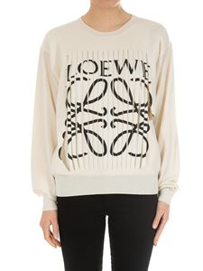 Loewe - Ivory sweater with cut-out and logo