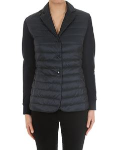 Moncler - Blue padded cardigan