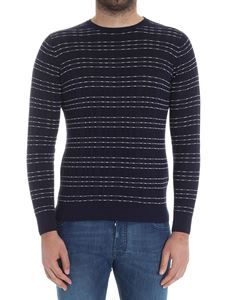Jeordie's - Blue striped knitted sweater