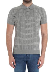 Jeordie's - Grey knitted striped polo