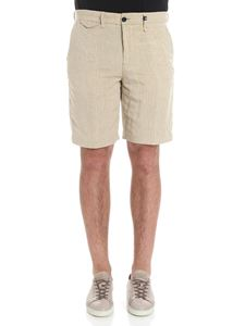 MYTHS - Beige striped bermuda