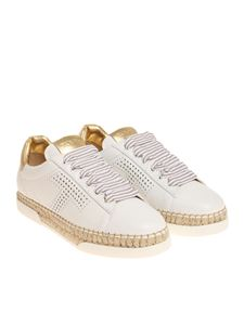 Tod's - White and golden sneakers