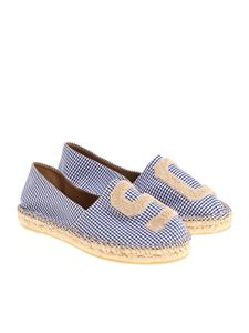 Semicouture - Blue and white check August espadrilles