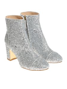 Polly Plume - Silver Ally ankle boots