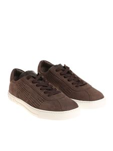 Tod's - Brown leather sneakers