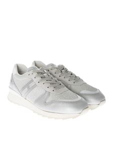 Hogan - Silver and white R261 sneakers