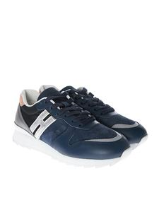 Hogan - Blue and silver R261 sneakers